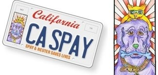New spay/neuter California license plates to make a dent in pet homelessness