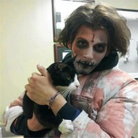 'Zombie' saves cat in Times Square