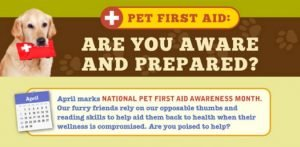 April is National Pet First Aid Awareness Month