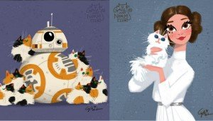Disney Artists Draw Star Wars Characters With Their Cats