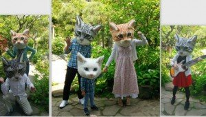 You Can Be A Cat, Too, With These Giant Realistic Cat Heads From Japan