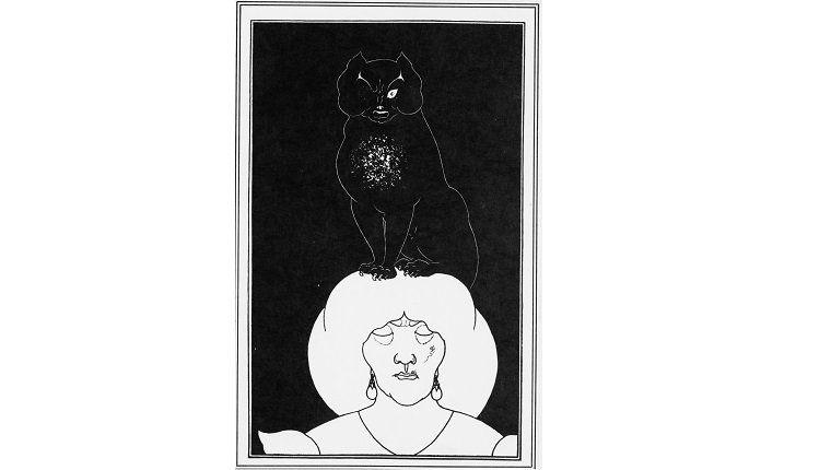 Illustration for the story The black cat by Edgar Allan Poe, 1894-1895. Artist: Beardsley, Aubrey (1872?1898)