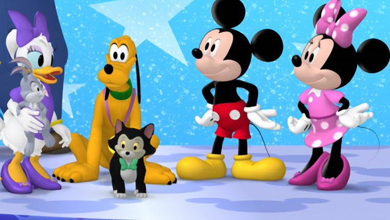 """MICKEY MOUSE CLUBHOUSE - """"Minnie's Pet Salon"""" - Minnie and the Clubhouse pals get their pets ready for Pluto's All-Star Pet Show at Minnie's Pet Salon. This episode of Disney Junior's """"Mickey Mouse Clubhouse"""" airs FRIDAY, APRIL 5 on Disney Junior (8:30 AM - 9:00 AM ET/PT). (Image by Disney Junior via Getty Images) This episode of Disney Junior's """"Mickey Mouse Clubhouse"""" airs Friday, November 22 on Disney Junior (9:00 AM - 9:30 AM ET/PT). (Image by Disney Junior via Getty Images) MOUSEKA, MR. PETTYBONE, MOOSKA, FIONA THE FROG, GOOFY, MISHKA, CLARABELL COW, BOO BOO CHICKEN, DONALD DUCK, CAPTAIN JUMPS-A-LOT, DAISY DUCK, PETE THE CAT, PLUTO, FIGARO, MICKEY MOUSE, MINNIE MOUSE"""