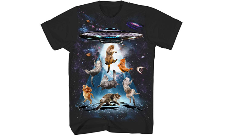 Cats and UFO t-shirt